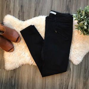 Black Zara Moto Jean
